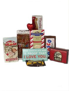 Better Than a Love Song Basket for Valentines Day! Includes Snowball Pretzels, You Are Special Milk Chocolate Bar, Ghirardelli Peppermint Bark, Knock Knock This is Proof That I Love You Milk Chocolate Bar, Pirouline Chocolate Lined Wafers, Bosco Milk Chocolate Bar, Claeys Kettle Fresh Fudge, Ashers Milk Chocolate Covered Pretzel