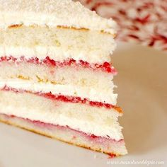 Lemon Raspberry Coconut Cake...
