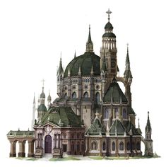 Catholic church, Eunsu Kang on ArtStation at https://www.artstation.com/artwork/1Rk83