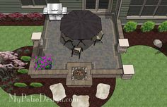 Dreamy fireplace patio design 635 sq ft download installation our diy square brick patio design with fire pit is solutioingenieria Images