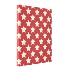 Red Starfield Stretched Canvas Print