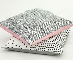 Black and white patterned pillows - Bloesem Living | Home accessories by Ihanna Home