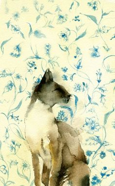 I really can't stand cats, but this painting by Kate Osborne is beautiful!