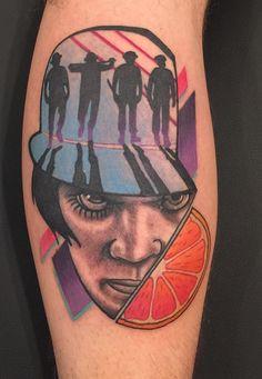 """Fresh """"A Clockwork Orange"""" done by Luke Reubelt of Black Devil Tattoo in Lowell IN."""