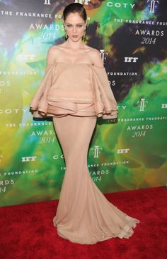 Coco Rocha looks simply Stunning  in this Zac Posen gown! OMG Talk about a severely romantic look.#FragranceAward #luxury #fashion