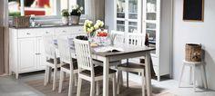 Monen kokoiset ja näköiset ruokailuryhmät: ruokapöydät ja tuolit - tutustu kattavaan huonekaluvalikoimaan Laulumaalla on kattava valikoima erilaisia ruokailupöytiä ja tuoleja kodin monikäyttöisiksi kalusteiksi.Laadukkaina materiaaleina käytetty massiivikoivua, massiivimäntyä, mdf-levyä sekä kalu... Furniture, Home Decor, Decor, Table