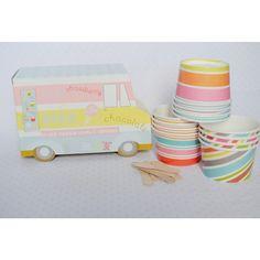 Ice Cream Van Ice Cream Cups   12ct for $11.95 in Ice Cream Cups - Tableware