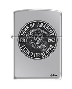 Zippo Sons of Anarchy Fear the Reaper EST 1967 High Polish Chrome Pocket Lighter >>> Want to know more, click on the image.(This is an Amazon affiliate link and I receive a commission for the sales)