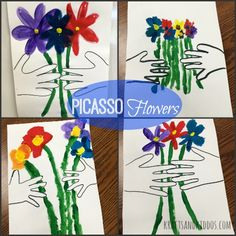 Picasso Flower Art