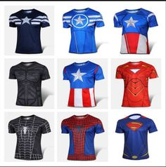 Men compression #short sleeve sports wear #running sport t-shirt superhero #costu,  View more on the LINK: 	http://www.zeppy.io/product/gb/2/301821208448/