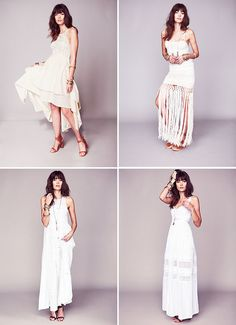 Free People Wedding Dresses - The dresses come in limited quantities of only 50-100 pieces each, and range in price from $350-$700.