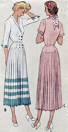 1940s Dress Pattern McCall 7682 Double Breasted by paneenjerez, $40.00
