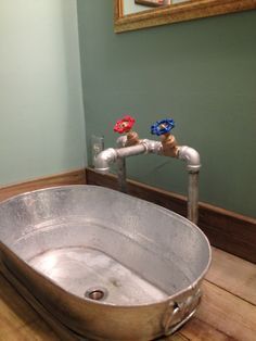 Making A Galvanized Tub Into A Sink Rustic Furniture