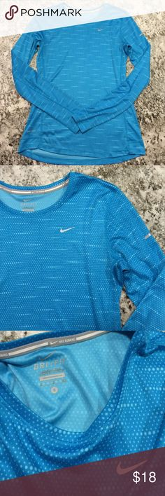 Nike Running Long Sleeve Top In good condition!   { FYI, I'm trying to clear some space in my closet, so I'm not interested in trading :) Thanks! } Nike Tops Tees - Long Sleeve