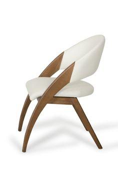 VIG Furniture VIG Modrest Lucas Cream Leatherette Walnut Finished Solid Wood Frame Dining Chair Set shop now