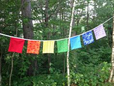 Chakra Prayer Flags Colorful Bunting Garden by ThirtySixDesign, $32.00