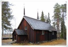 Old wooden church in Sodankylä (built 1689) - Lapland - Finland