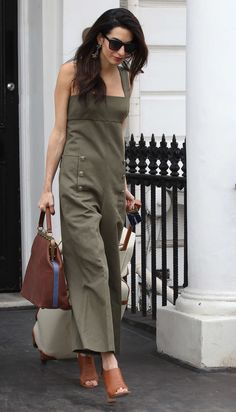 Pin for Later  15 Travel Outfits Every Power Woman Owns A Tailored Jumpsuit  in a Neutral Tone — That Might Also Happen to Match Your Luggage Amal  Clooney ... fea3991865e30