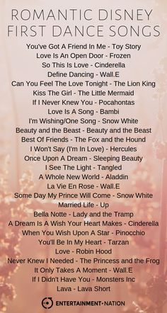The most romantic disney first dance songs that are guaranteed to add a touch of magic to your big day. you can listen to these perfect wedding songs on our Wedding Song Playlist, Wedding Song List, Dance Music Playlist, Love Songs Playlist, Wedding Quotes, Perfect Wedding Songs, Romantic Songs, Country Songs For Wedding, Disney Playlist
