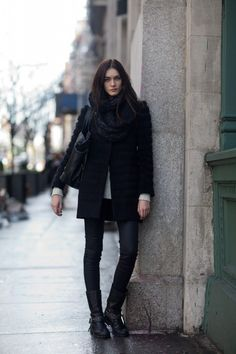 Layers of black.
