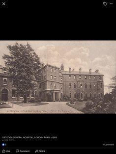 Croydon General Hospital 1905 Vintage London, Old London, Old Photos, Vintage Photos, Thornton Heath, London Drawing, High Road, Croydon, Edwardian Era