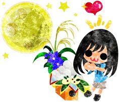 秋のフリーのイラスト素材可愛い女の子と月見団子  Free Illustration of autumn A cute little girl and rice cakes for moon watching   http://ift.tt/2cB3o4y