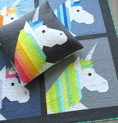 Patterns by Elizabeth Hartman — LISA THE UNICORN pdf quilt pattern