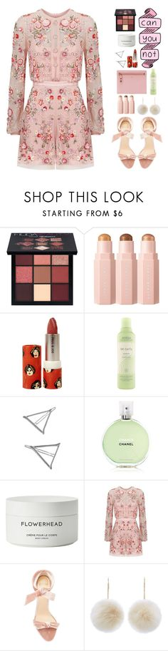 """""""Not for Everyone"""" by finding-0riginality ❤ liked on Polyvore featuring Huda Beauty, Paul & Joe, Aveda, Chanel, Byredo, Needle & Thread, Alexandre Birman, New Look and Tom Ford"""