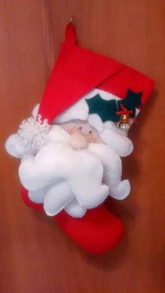 Bota/meia de natal em feltro