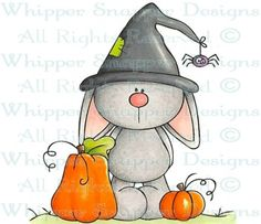 Bunny Witch - Halloween Images - Halloween - Rubber Stamps - Shop