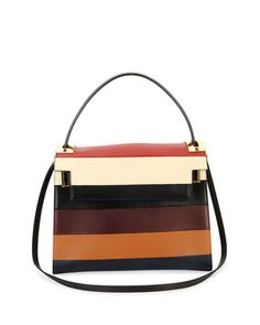 L0K4F Valentino My Rockstud Striped Frame Bag