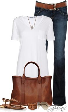 simple and casual...need the shoes and bracelet!
