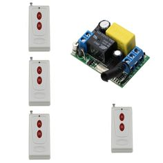 18.44$  Buy now - http://aliy4b.shopchina.info/1/go.php?t=32815459578 - AC22V 10A 1CH RF Remote Control Switch System 4X Transmitter + 1 X Receiver Smart Home for Lamp/Window/Garage Door  #magazineonlinebeautiful