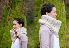 Crochet Leather Snap Scarf – Free Pattern