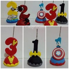 Number Cake Toppers, Fondant Toppers, Fondant Figures, Clay Figures, Fondant Numbers, Disney Cakes, Baby Shower Cupcakes, Clay Animals, Cake Toppings