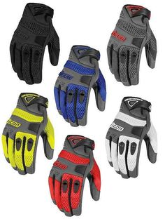 Icon Mens Anthem Mesh Leather Street Motorcycle Gloves All Sizes #Icon