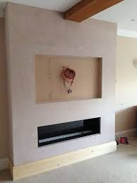 how to make a false chimney breast to house a tv and electric fire Fireplace Tv Wall, Chimney Breast, 1930s House, Tv Wall Design, Electric Fires, Log Burner, Shelving, New Homes, Living Room