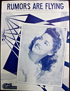 """Sheet music for, """"Rumors Are Flying"""" by Frankie Carle And His Orchestra w/ Marjorie Hughes - Words & Music by Bennie Benjamin & George Weiss"""