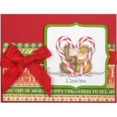 Stampendous Cling Mounted Rubber Stamps - House Mouse Designs - Candy Cane Kiss