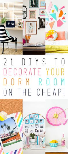21 DIYs to Decorate Your Dorm Room (on the cheap!) - A Popular Pin for The Cottage Market
