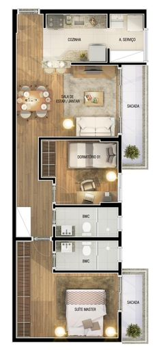Flip the second bedroom and kitchen positions for more privacy.