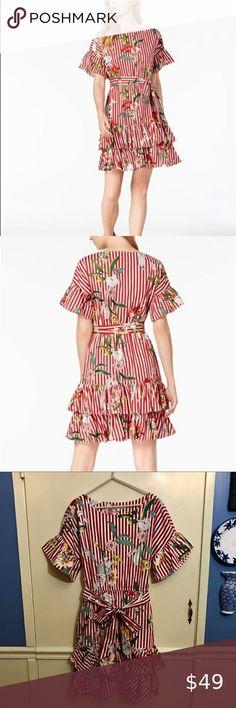designer Free People TEGAN floral MINI DRESS Size UK 10//12 summer beach holiday