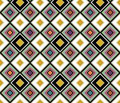 garden diamond fabric by scrummy on Spoonflower - custom fabric