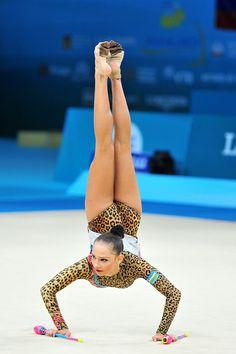 Anastasia Serdyukova (Uzbekistan) got 17.516 points for her clubs routine at…