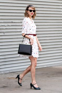 Taylor coming out of the gym. Seriously.