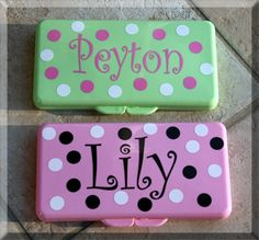 Personalized Polka Dot Wipes Case