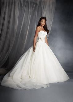 1ebb27d465d Snow White Inspired Princess Wedding Dress - 2015 Disney s Fairy Tale  Weddings by Alfred Angelo Disney