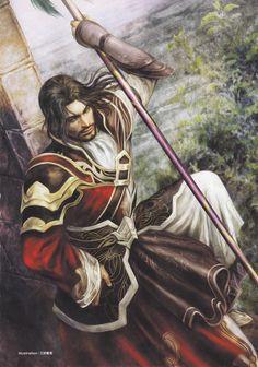 Asian fantasy art and game fanart - Dynasty Warriors - Lu Meng Fantasy Male, Fantasy Warrior, Paladin, Character Portraits, Character Art, Fantasy Portraits, Character Concept, Warriors Pictures, Knight