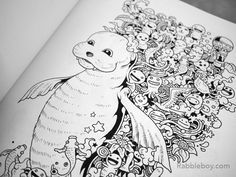 Doodle Invasion A Crazy Coloring Book By Kerby Rosanes Rabbleboy See More P1100208