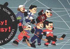 ШАЙБУ! ШАЙБУ! / Ice hockey at Sochi 2014 by L S F, via Behance